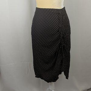 Will's River co black pink polka dot pencil skirt